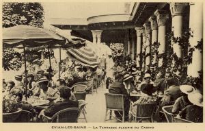 La terrasse du casino ed-Société des Eaux Minérales Evian-Cachat