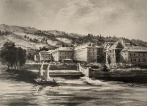 1854 - couvent des cordeliers gouache de A de Lenaul