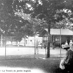Cours de tennis sur le jardin anglais au bord du Léman (1894)