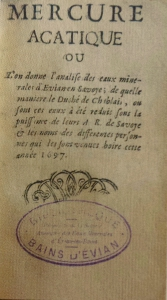 Mercure Arcatique, par le Rd Bernard, 1697
