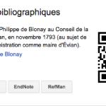Philippe de Blonay maire d'Evian en 1793