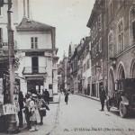 Rue nationale, devenue piétonne, à proximité de la librairie du Murator