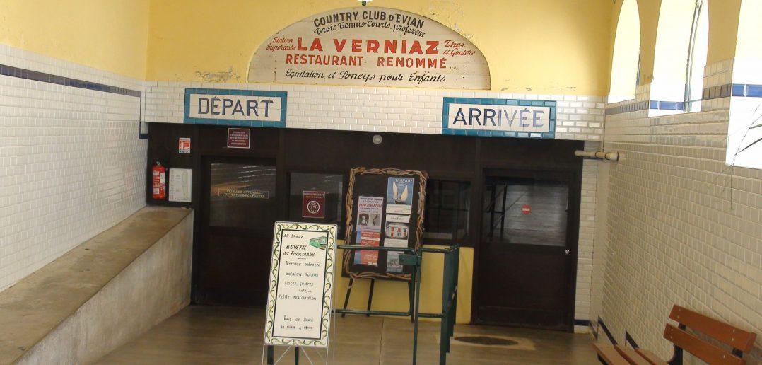 Station du funiculaire, proche de la médiathèque Ramuz, rue du port