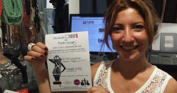 Virginie Meridda, de Carnaby, anime les jeudis de la mode au Purple Lounge