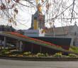 Evian ville fleurie, vue sur l'église