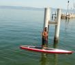 Leandro  en paddle sur le Léman