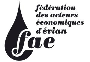 logo de la FAE évian commerçants