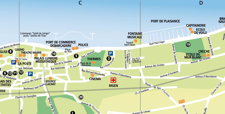 Les voies rues routes chemins avenues quais - Office du tourisme de thonon les bains ...
