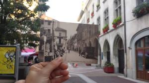 rue nationale, avant et en 2014 - juste à droite, vous ne voyez pas le Muratore, restaurant où il fait bon vivre