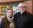 Agnès Tavel, conseillère municipale d'Evian et Yves le Bornec, patron du Murator