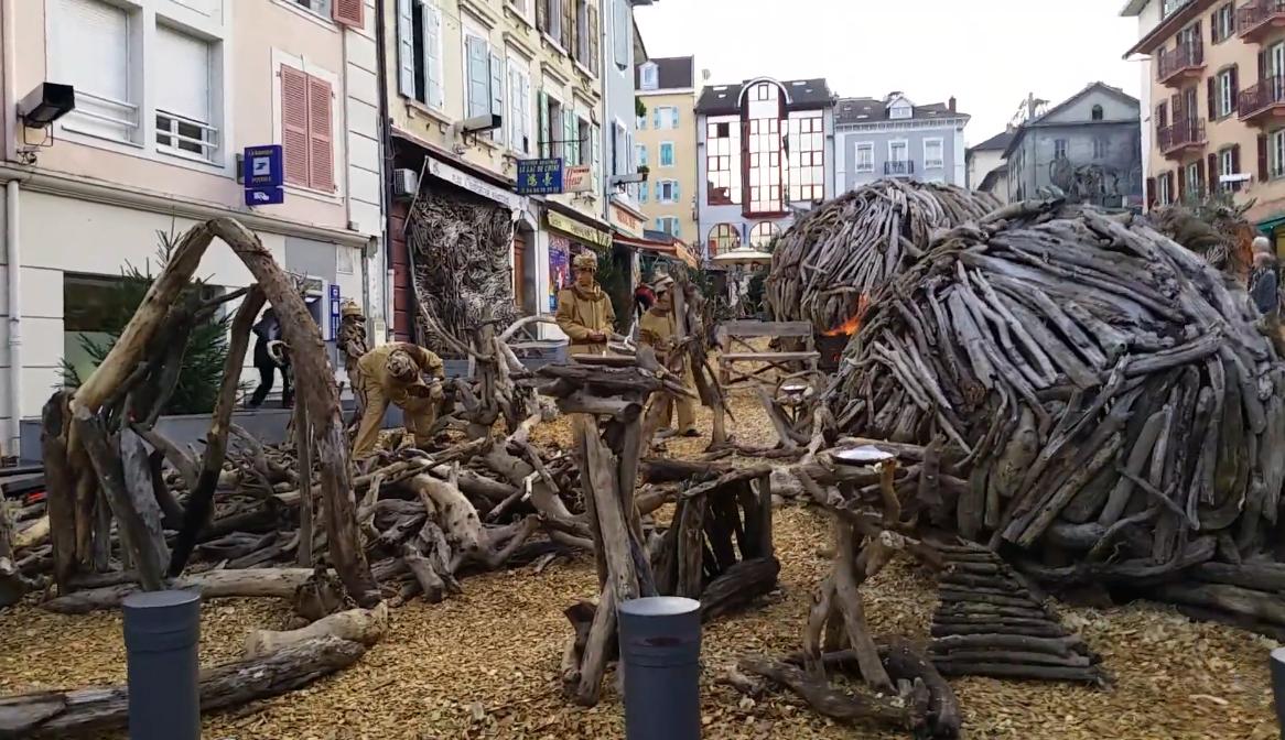 sculpture bois flotte evian