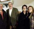 Henri Gateau, Benoît Dekerle, Lise Nicoud, Agnès Tavel - autour du président du club, trois membres du conseil municipal