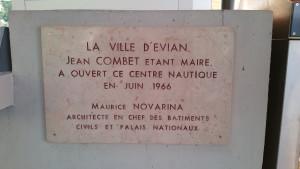 Piscine d'Evian - Centre Nautique Jean Combet - maire d'Evian de 1961 à 1971 1961