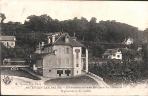 établissements et sources du Châtelet - dépendances de l'hôtel - Evian-les-bains
