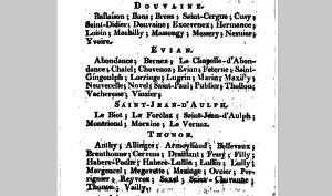 Le canton d'Evian Annuaire du département du Léman pour l'année 1811