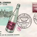 poste timbre enveloppe Evian