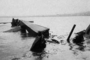L'accident de la ligne Evian-Lausanne, du 2 août 1930- photo Cornaz