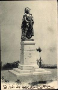 Statue de Dupas, square de Benicasim, à Evian-les-bains