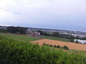 vue sur le chateau du club de foot Evian thonon gaillard