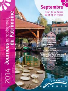 journées du patrimoine Léman en Suisse et en France