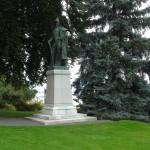 Statue du général Dupas Jardin de Benicassim