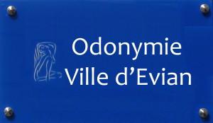 Odonymie Évian-les-Bains, noms des rues et autres voiries
