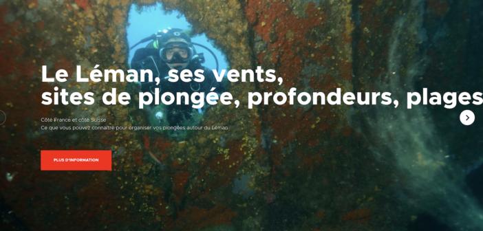 Le site de plongée d'Evian actualisé